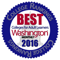 UB in Washington Monthly's National Top 25 for Adult Learners
