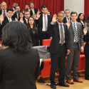Law Clinic Students Sworn in as Student Attorneys