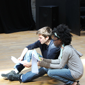 UB students Joseph Hospodor and Victoria Williams in rehearsal