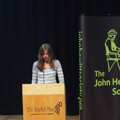 Rachel Wooley reading her memoir at the John Hewitt International Summer School