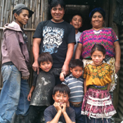 one of the Guatemalan families that received a new stove