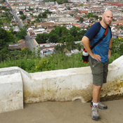 Dave Edwards at Cerro de la Cruz, overlooking Antigua