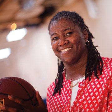 On or off the basketball court, Myra Waters, director of UBs Counseling Center, makes a difference in students lives.
