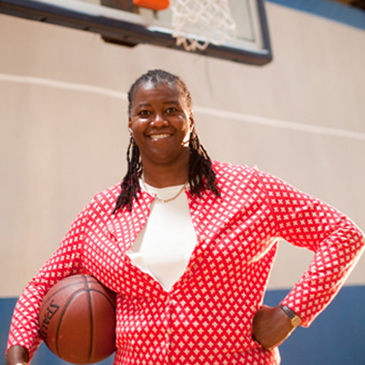 On or off the basketball court, Myra Waters, director of UB's Counseling Center, makes a difference in students' lives.