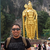 Solis at the Batu Caves in Kuala Lumpur, Indonesia