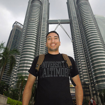 Remember Efrain Solis, B.S. '11, M.S. '12, who traveled to Dubai, United Arab Emirates? Now he's in Singapore.