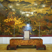 A room inside the Reunification Palace in Ho Chi Minh City, Vietnam