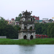 Thap Rua temple in Hanoi, Vietnam