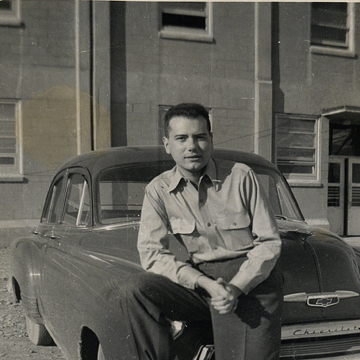 Then: Bandell at Fort Richardson, outside of Anchorage, Alaska, in 1952