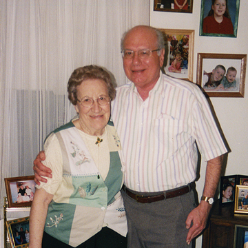 Now: Bandell and his wife, Evelyn, at their Nottingham, Md., home in 2007