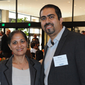 Christina Hardy, director of development, Merrick School of Business; Kulwant Ahuja; and Ateet Ahuja, M.B.A. '09