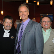 Albert E. Mank, B.S. '65; Gerry Sandusky, honoree and sports director, WBAL-TV 11; and Edward P. Castronova, B.S. '67