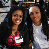 Calissa Randall, B.A. '13, and Wayne Collins II