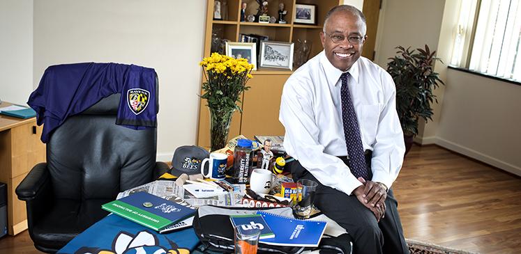 President Schmoke at his desk