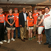 Kurt with alumni group at Camden Yards