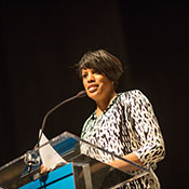 Mayor Rawlings-Blake speaks at podium