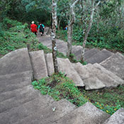 the steps to Peña de la Cruz