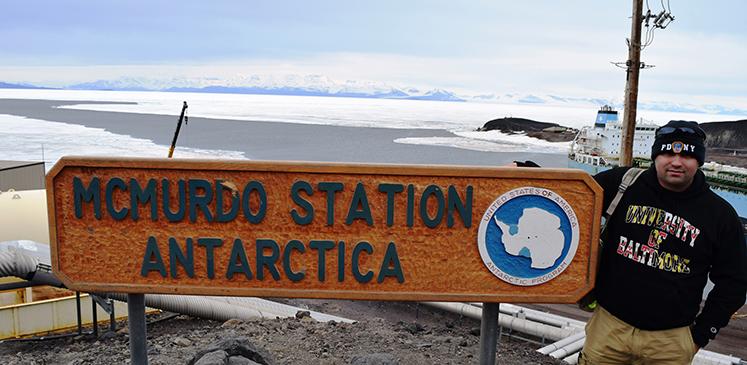 Maximilian Balzano in Antarctica
