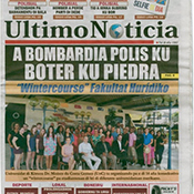 front page of the newspaper
