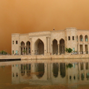 "Adam Canterbery, B.S. '11; ""Al-Faw Palace during a Dust Storm"""