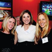 Melissa J. Townsend, J.D. '07; Patricia V. Calomeris, J.D. '09; and Lizzy Cowan, J.D. '10