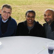 George T. Reams, B.S. '69; Carol L.R. Roberts, B.S. '07, M.P.A. '10; and Chris Pollard