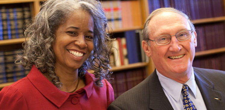 Janet Harrison and U.S. Supreme Court clerk William K. Suter