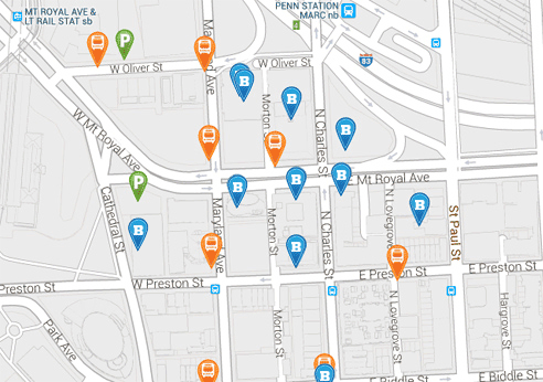 University of Baltimore Campus Map