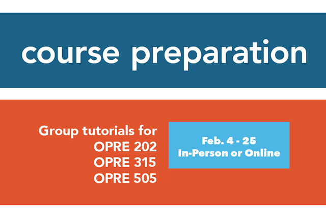 OPRE 315 Group Tutorial