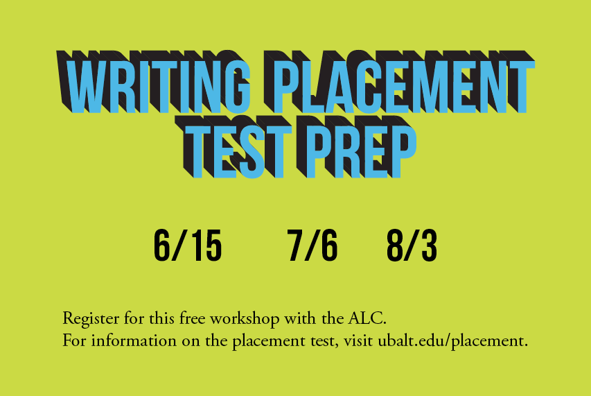 Writing Placement Test Prep Workshop