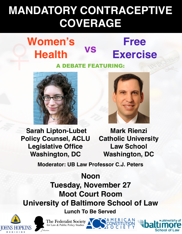 Mandatory Contraceptive Coverage - Women's Health vs. Free Exercise