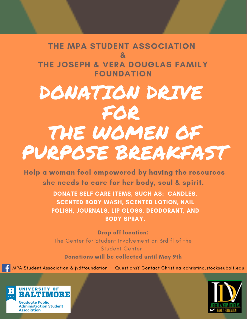 MPASA Women in Purpose Breakfast Self-Care Donation Drive