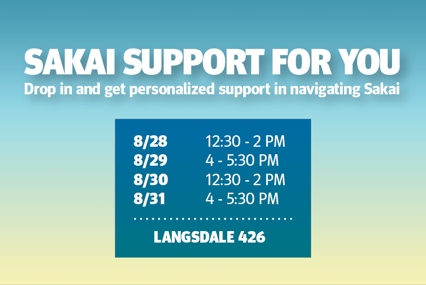 Sakai Support For You