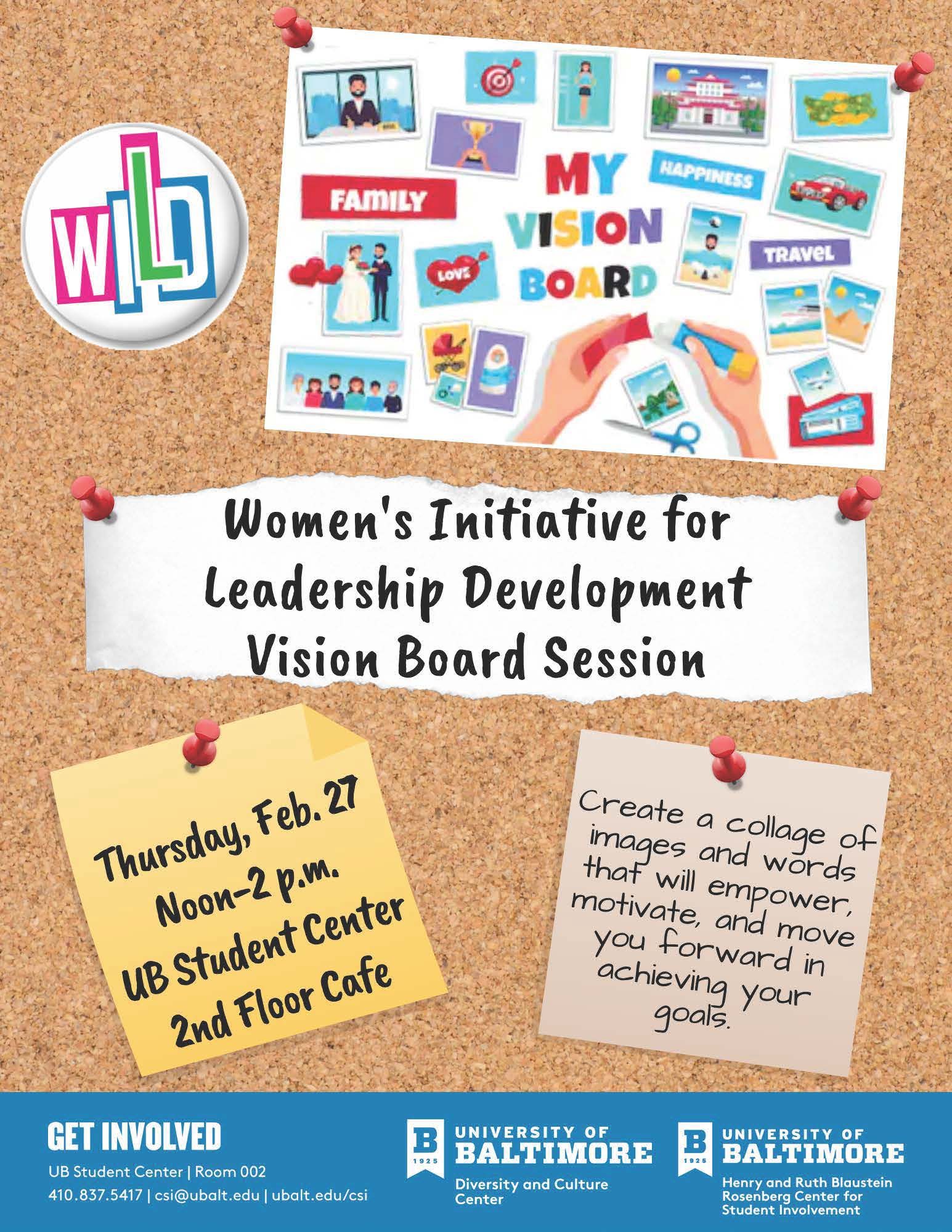 Women's Initiative for Leadership Development (WILD) Hosts: Vision Board Session