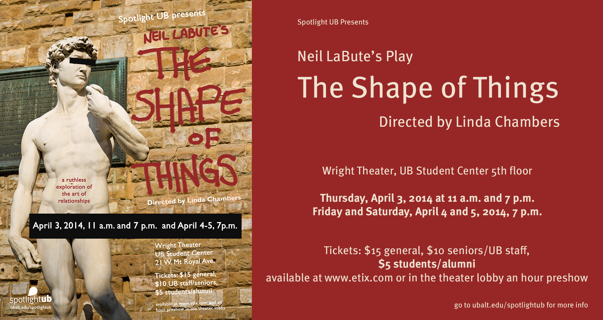 The Shape of Things Matinee