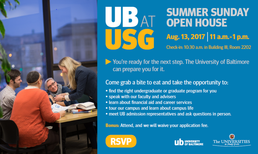 UB@USG Summer Sunday Open House