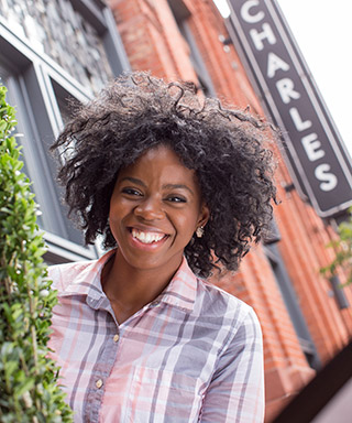 University of Baltimore freshman student, Crystle: Community Studies and Civic Engagement major