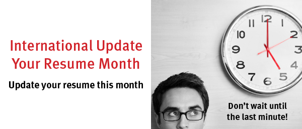 International Update Your Resume Month Banner