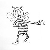bee drawing